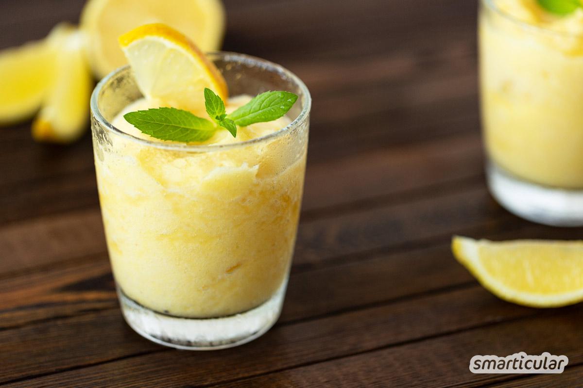 Sommerträume werden wahr mit diesem einfachen Granita-Rezept: Ein Grundrezept und viele Abwandlungen, klassisch mit Zitronen oder auch mit Kaffee.