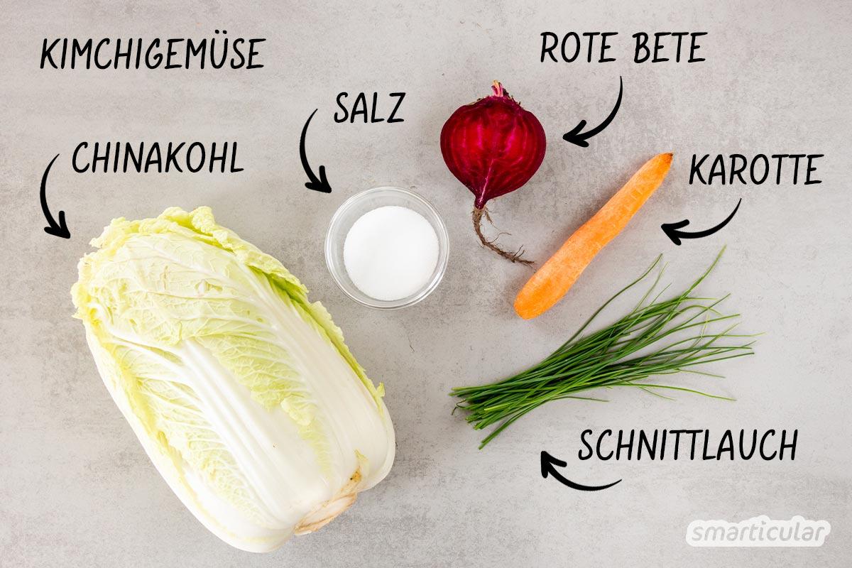 Kimchi selber machen: So leicht gelingt die koreanische Spezialität mit Kohl und Chili, die durch Fermentation lange haltbar und besonders vitaminreich wird.