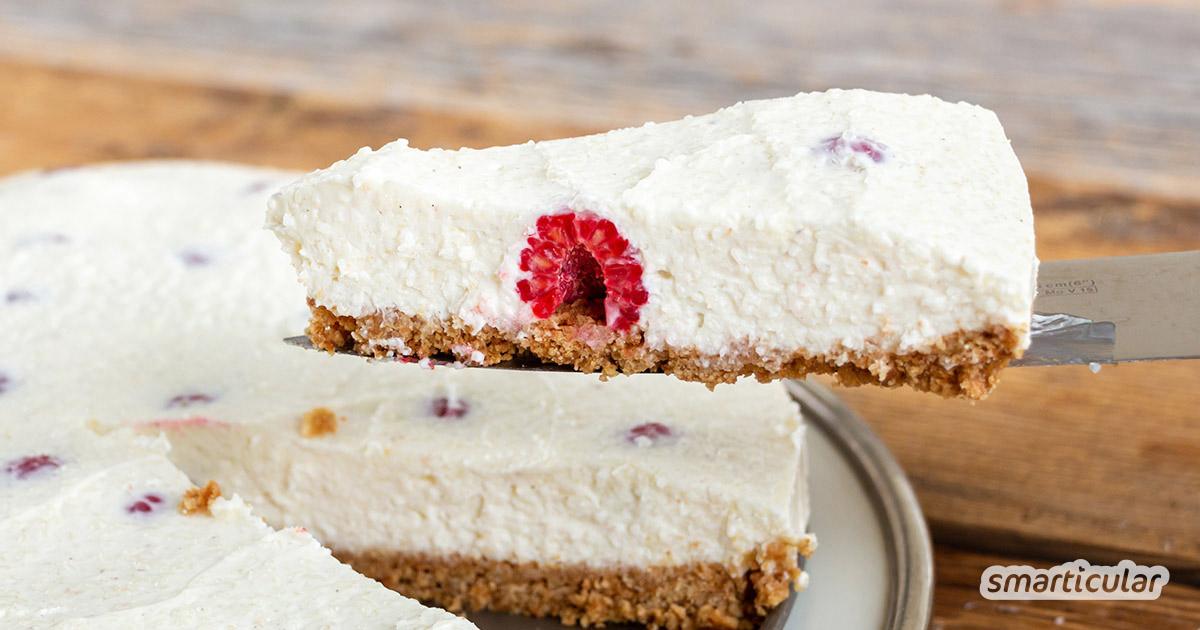 Mit diesem Kuchen ohne Backen bleibt der Ofen aus! Denn er braucht lediglich einen längeren Aufenthalt im Kühlschrank und schmeckt dann herrlich erfrischend.