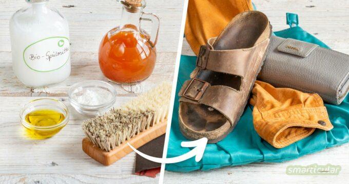 Für die Reinigung von Leder brauchst du keine teuren Spezialprodukte. Mit unkomplizierten Hausmitteln wird jeder Ledertyp wieder sauber und gepflegt.