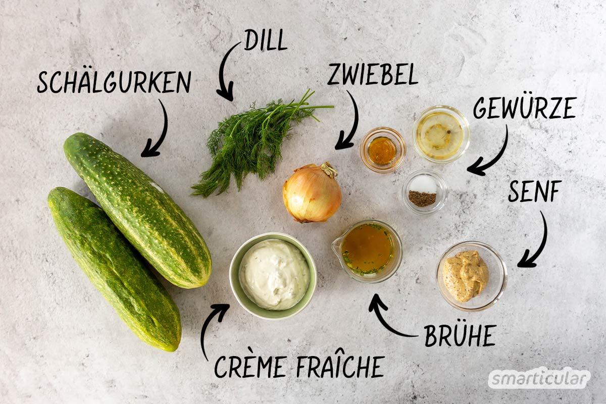 Mit diesem Schmorgurken-Rezept lässt sich eine große Gurkenernte auch mal anders als köstliche Beilage oder als Pfannengericht mit Hack zubereiten.