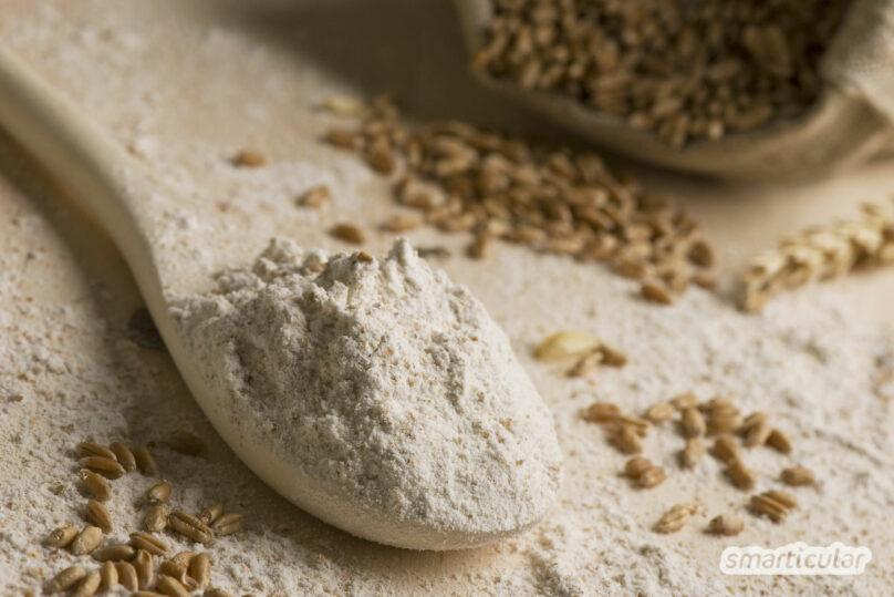 Mehlsorten übersichtlich und einfach erklärt: Mehl Type 405, Type 1050, Weizen, Dinkel … Wofür sind welche Sorten geeignet? Eine kleine Mehlkunde zum Backen!