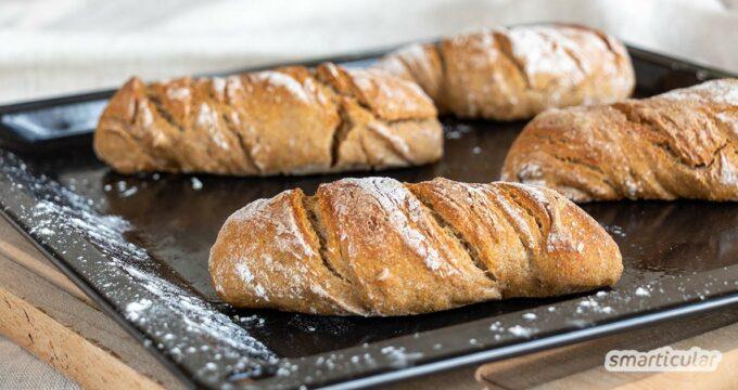 Roggenbrötchen schmecken besonders aromatisch. Hier findest du für das rustikale Gebäck ein einfaches Rezept mit Sauerteig, das ohne Hefe auskommt.