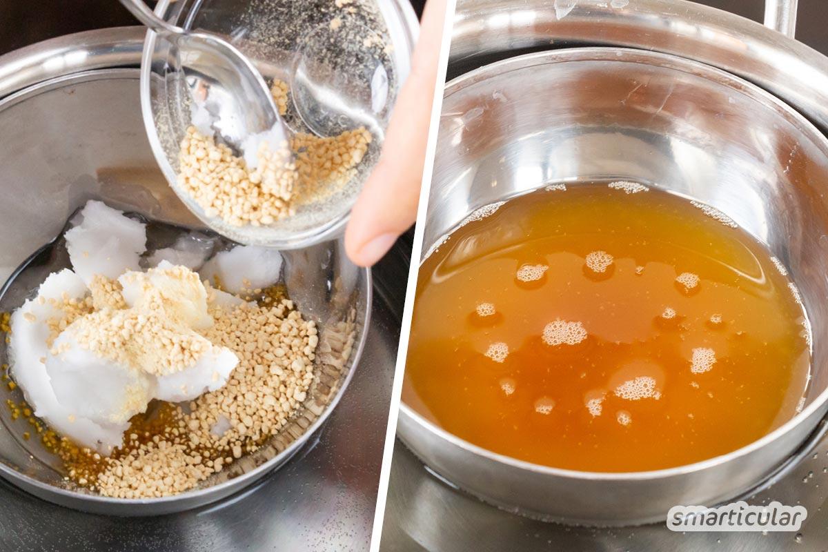 Vegane Sahne aufzuschlagen, ist selbst für Geübte eine Herausforderung. Aber mit diesem Rezept kann man ganz leicht aufschlagbare Sojasahne selber machen.