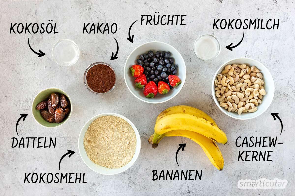 Dieses einfache Rezept für köstliche, vegane Cupcakes lässt sich kinderleicht umsetzen - ohne Backen, ohne Industriezucker, ohne schlechtes Gewissen.
