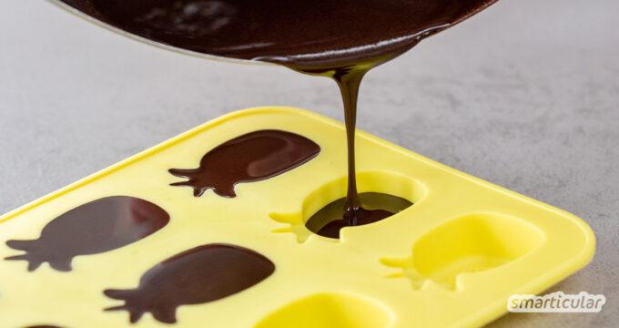 Schoki aus dem Laden? Nein, danke! Mit diesem Rezept lässt sich Vollmilchschokolade selber machen und nach Belieben mit weiteren Zutaten verfeinern.