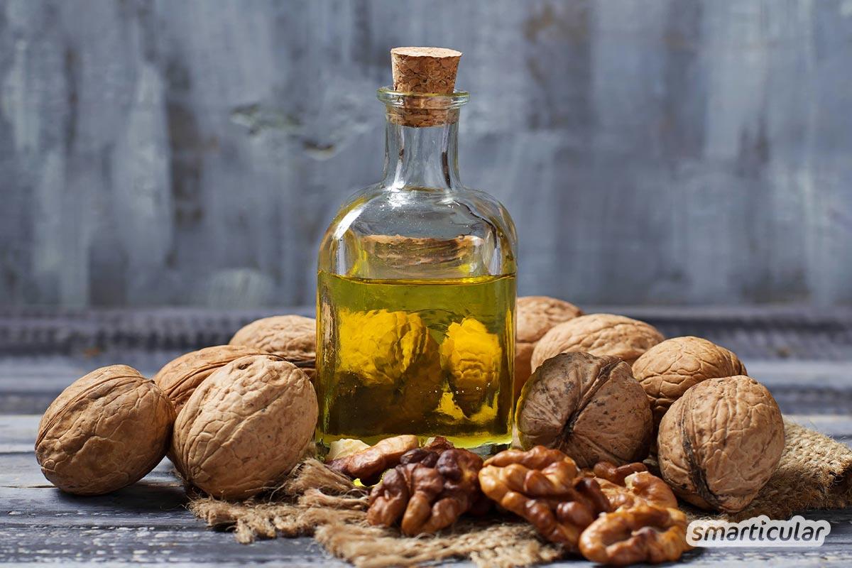 Walnüsse besitzen zahlreiche gesunde Inhaltsstoffe. Auch Walnussöl und Walnussblätter haben für Küche, Körperpflege und Hausapotheke einiges zu bieten.