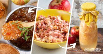 Beim Apfelsaftpressen fallen jede Menge Apfelreste ab. Die bitte nicht wegschmeißen! Hier findest du fünf tolle Rezeptideen zum Verwerten von Apfeltrester.