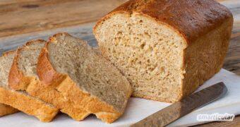 Ein Einkorn-Brot schmeckt köstlich und macht durch viel Eiweiß und Ballaststoffe satt! Lies hier, wie einfach du ein Einkorn-Brot mit Hefe backen kannst.
