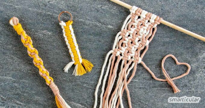 Makramee-Knoten werden aus rein natürlichen Materialien geknüpft. Die wichtigsten Knoten lernst du hier in dieser einfachen Makramee-Anleitung für Anfänger!